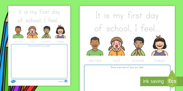 Back to School Feelings Worksheet / Worksheet, worksheet