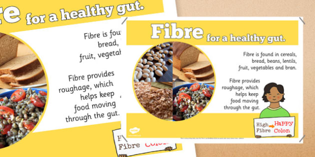 Year 6 Fibre Nutrients Display Poster - healthy eating, ourselves