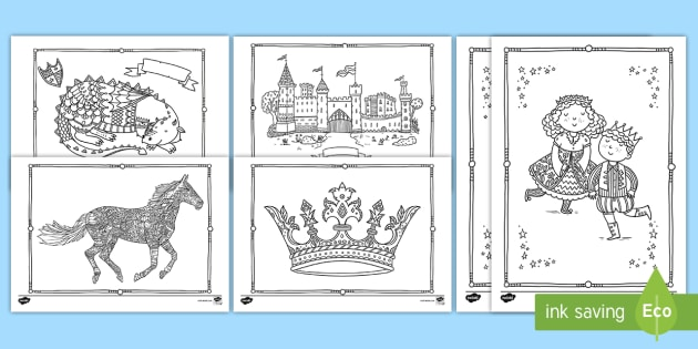 NEW * Castles and Knights Mindfulness Colouring Pages - St George\\\'s Day