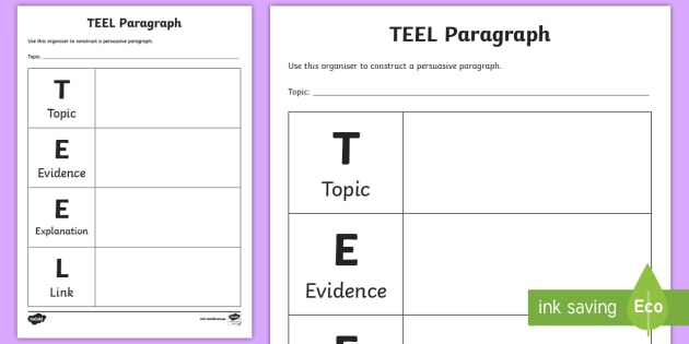 how to make teel paragraphs