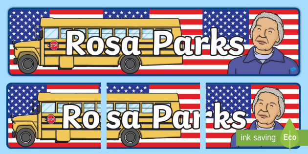 Rosa Parks Display Banner - rosa parks, display, banner, display banner, display header, themed banner, classroom banner, banner display, header, display