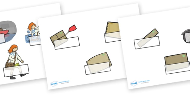 Editable Self Registration Labels to Support Teaching on Katie Morag Delivers the Mail - Self registration, register, Mairi Hedderwick, story, scotland, book, resources,, editable, labels, registration, child name label, printable labels,  book, scot