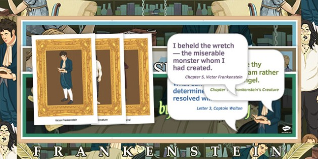 Frankenstein Display Pack KS4 - Frankenstein, Romantics, 19th century, English Literature, GCSE, Mary Shelley, key stage 4, secondary