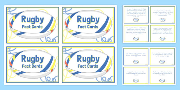 Rugby Display Fact Cards - australia, rugby, display, fact cards