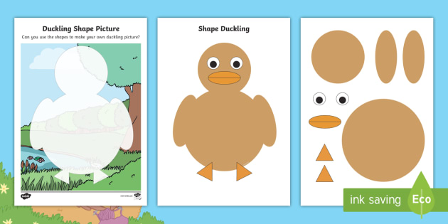 2d Shape Duckling Worksheet Activity Sheets Eyfs Early