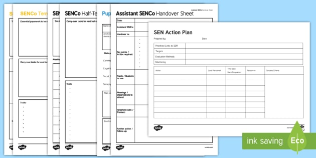 Sen Action Plan Template Adult Guidance  Senco Plan
