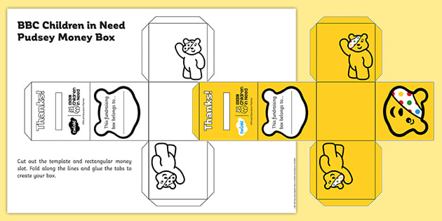 BBC Children in Need: Pudsey Colouring In Money Box