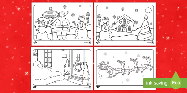 twinkl winter coloring pages - photo#25