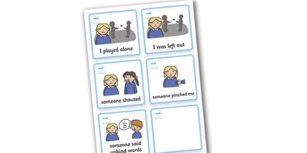 SEN Communication Cards Explanations (Girl) - education, home school, child development, children activities, free, kids
