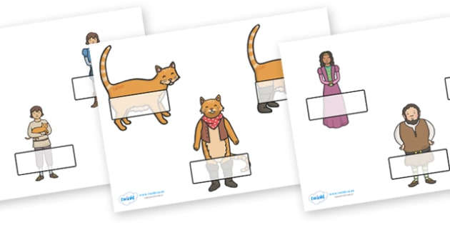Puss in Boots Self-Registration (Editable) - Puss, cat, in boots, royal, coach, curier, miller, king, Self registration, register, editable, labels, registration, child name label, printable labels, king's daughter, donkey, prince,Marquis of Carabas,