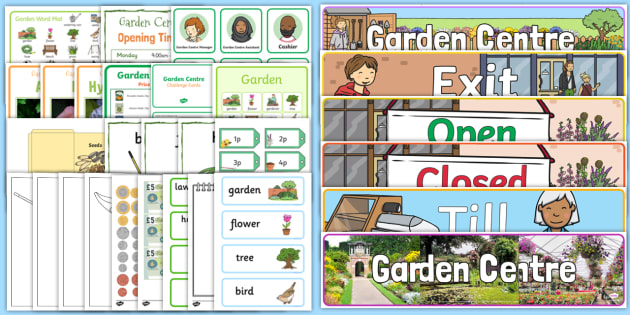 Garden Centre Role Play Pack - EYFS, Early years, EAD, BI, planting, plants, growing, living processes, Understanding the world, UTW, spring, summer