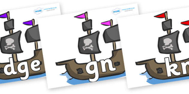 Silent Letters on Pirate Ships - Silent Letters, silent letter, letter blend, consonant, consonants, digraph, trigraph, A-Z letters, literacy, alphabet, letters, alternative sounds