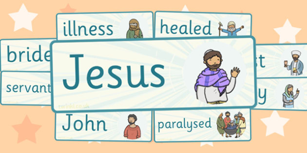 The Miracles of Jesus Bible Stories Word Cards - visual, literacy
