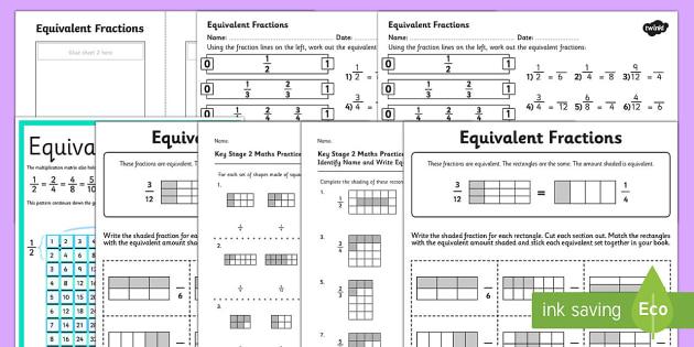 equivalent fractions ks  maths resources maths numeracy ks  equivalent fractions ks  maths resources maths numeracy ks equivalent  same