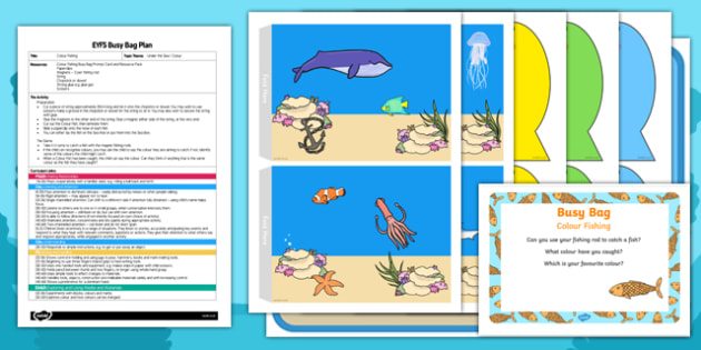 EYFS Colour Fishing Busy Bag Plan and Resource Pack
