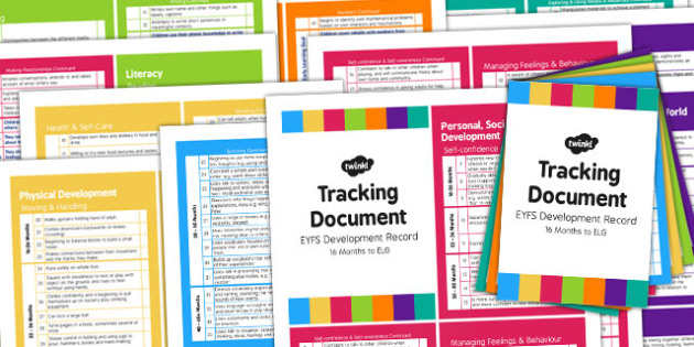 EYFS Early Years Outcomes Tracking Document Pack 16 Months to ELG and Exceeding Descriptors