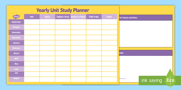 Yearly Home Education Planner - yearly, home education, planner, year, plan