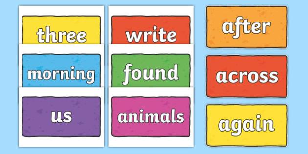 200 Common Words on Multicoloured Bricks - 200 common words, multicoloured, bricks