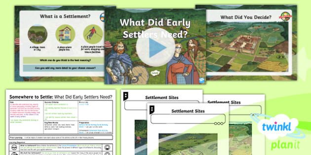 Geography: Somewhere to Settle: What Did Early Settlers Need