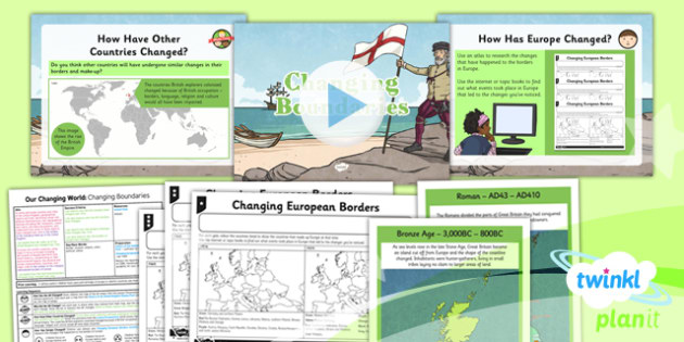 Geography: Our Changing World: Changing Boundaries Year 6 Lesson Pack 4