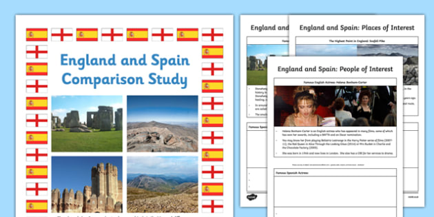 England and Spain Comparison Study Research Booklet