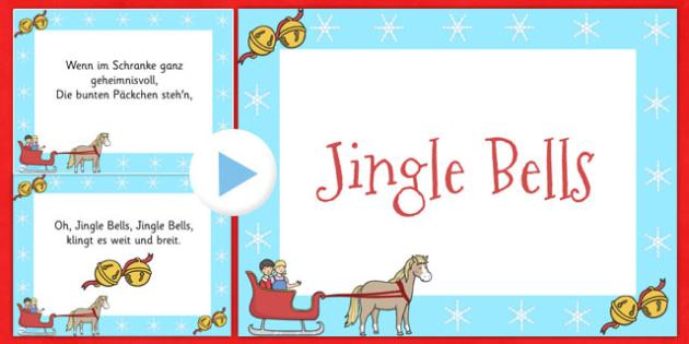Jingle Bells Christmas Carol Lyrics PowerPoint German - german, jingle bells, christmas, carol, lyrics, powerpoint
