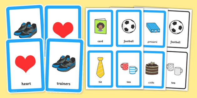 Father's Day Pairs Matching Game - fathers, day, pairs, matching