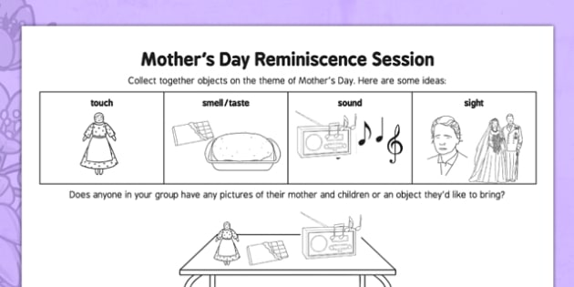 Elderly Care Mother's Day Reminiscence Session - Elderly, Reminiscence, Care Homes, Mother's Day