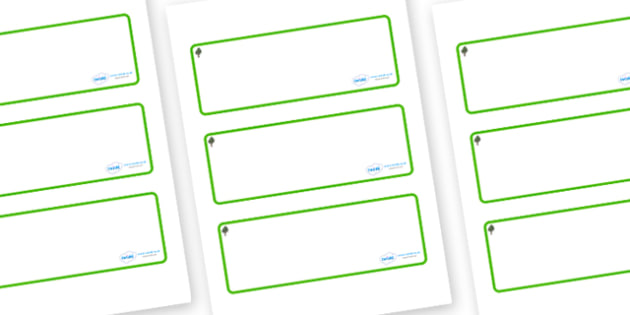 Chestnut Tree Themed Editable Drawer-Peg-Name Labels (Blank) - Themed Classroom Label Templates, Resource Labels, Name Labels, Editable Labels, Drawer Labels, Coat Peg Labels, Peg Label, KS1 Labels, Foundation Labels, Foundation Stage Labels, Teachin