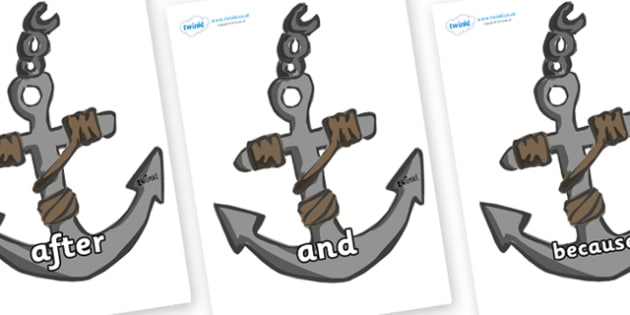 Connectives on Anchors - Connectives, VCOP, connective resources, connectives display words, connective displays