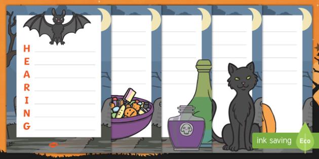 Halloween Senses Acrostic Poem