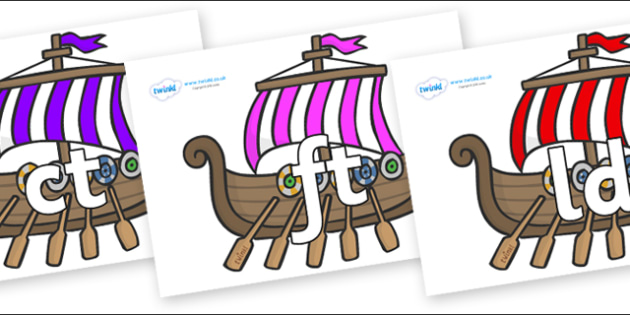 Final Letter Blends on Viking Longboats - Final Letters, final letter, letter blend, letter blends, consonant, consonants, digraph, trigraph, literacy, alphabet, letters, foundation stage literacy