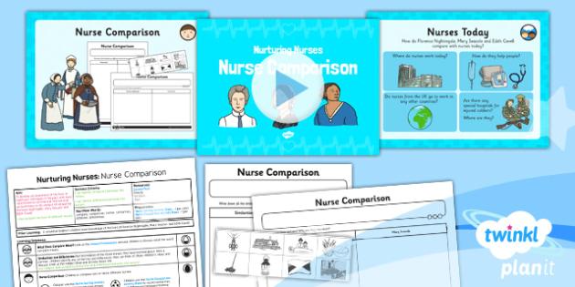 History: Nurturing Nurses: Nurse Comparison KS1 Lesson Pack 5