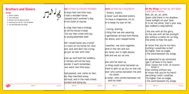 Elderly Care Life History Book Brothers and Sisters Songs - Elderly