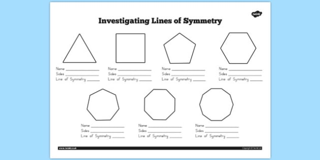 Australia - Investigating Lines of Symmetry Worksheet - australia, symmetry