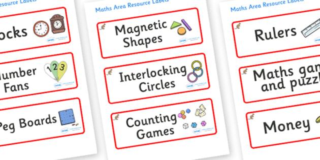 Kangaroo Themed Editable Maths Area Resource Labels - Themed maths resource labels, maths area resources, Label template, Resource Label, Name Labels, Editable Labels, Drawer Labels, KS1 Labels, Foundation Labels, Foundation Stage Labels, Teaching La