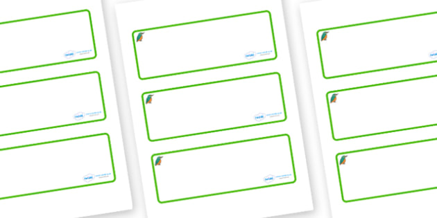 Kingfisher Themed Editable Drawer-Peg-Name Labels (Blank) - Themed Classroom Label Templates, Resource Labels, Name Labels, Editable Labels, Drawer Labels, Coat Peg Labels, Peg Label, KS1 Labels, Foundation Labels, Foundation Stage Labels, Teaching L