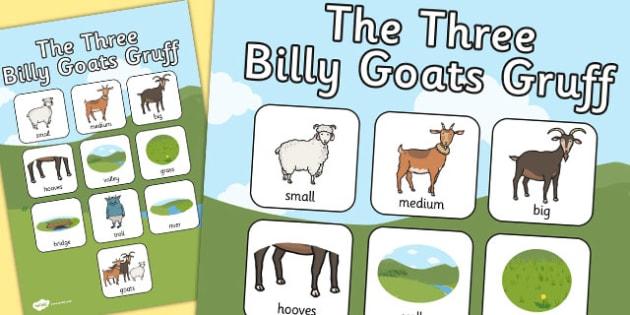 The Three Billy Goats Gruff Vocabulary Poster - vocabulary, goats