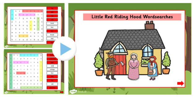 Little Red Riding Hood Interactive Wordsearch - wordsearch, story