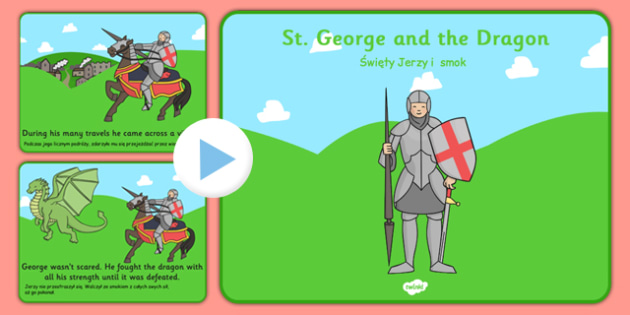 St George's Day Story PowerPoint Polish Translation - polish, story, powerpoint, st george