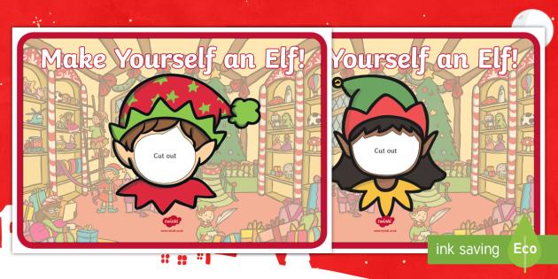 Elf Yourself Face Template