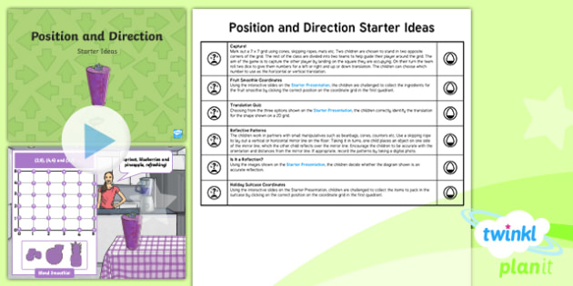 PlanIt Maths Y5 Position and Direction Starter Ideas Pack