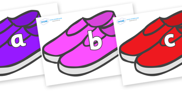Phase 2 Phonemes on Shoes - Phonemes, phoneme, Phase 2, Phase two, Foundation, Literacy, Letters and Sounds, DfES, display