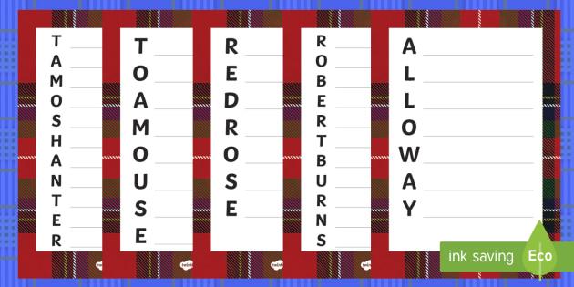 Robert Burns Acrostic Poem Pack - Scottish, Scotland, CFE, significant individuals, Robert Burns, National Poet, poetry, poems,Scottis