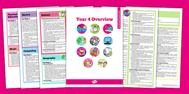 2014 National Curriculum Overview Booklet Year 4 - new curriculum, 2014