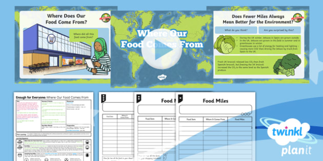 Geography: Enough for Everyone: Where Our Food Comes From Year 5 Lesson Pack 4