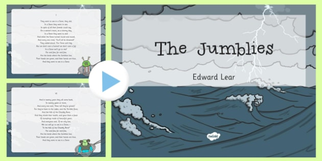 The Jumblies Edward Lear Poem PowerPoint -poetry, literature, key stage 2, KS2, English, Key Stage 3, KS3