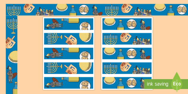 Hanukkah Display Borders - Hanukkah, Jew, Judaism, celebration, light, festival
