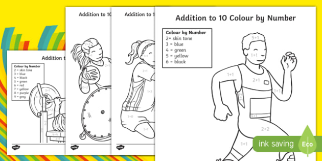 Paralympics Addition to 10 Colour by Number