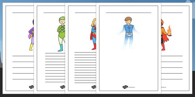 Superhero Themed Writing Frames - superheroes, writing template